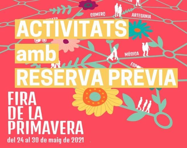 Demana la teva reserva per a les activitats de la Fira de la Primavera