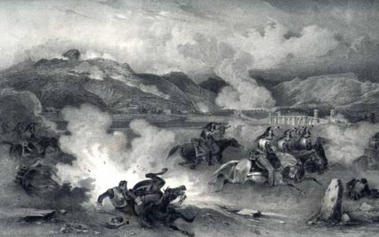 Pont de Molins de Rei en un gravat de Langois de la guerra del Francès