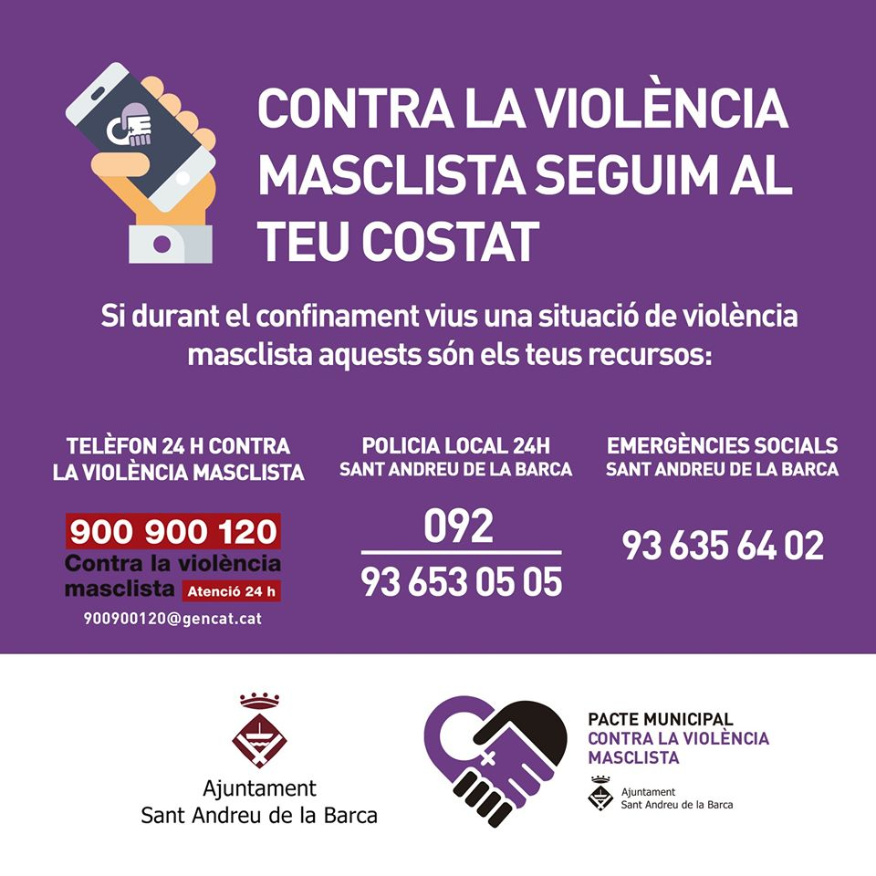 Recursos contra la violència masclista davant la situació de confinament