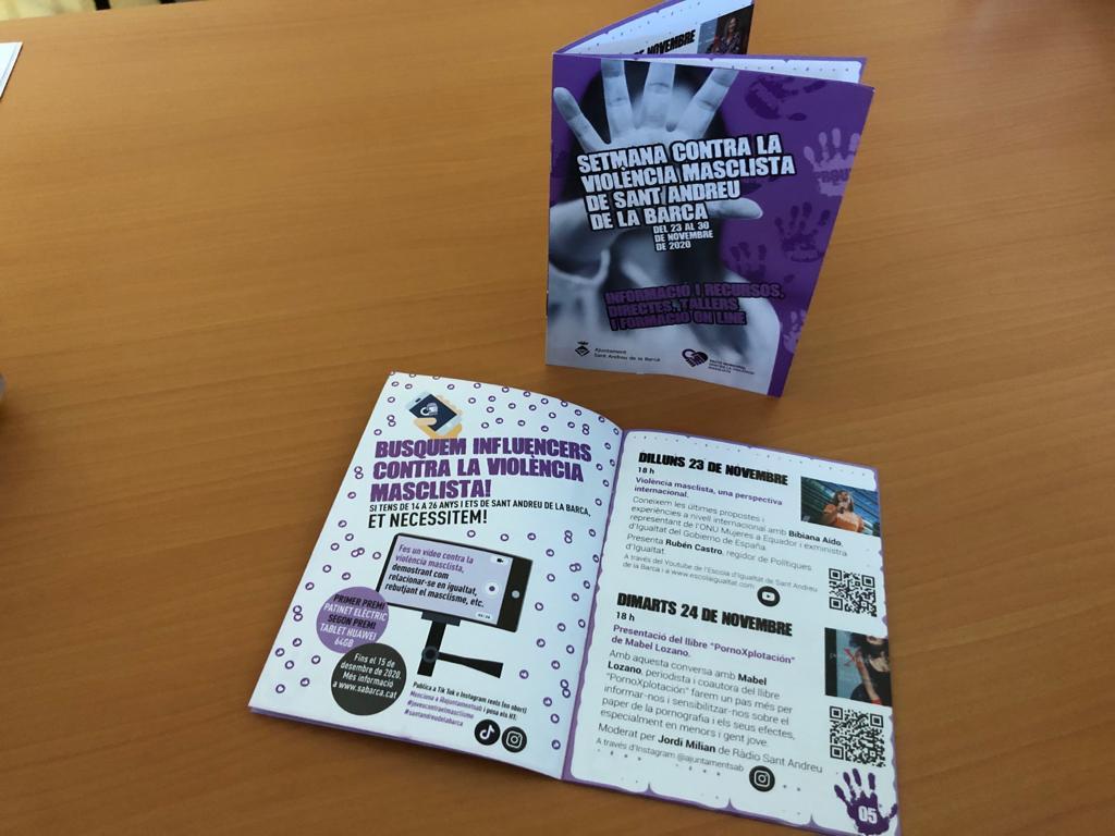 L'Ajuntament programa activitats on line amb motiu de la Setmana contra la violència masclista