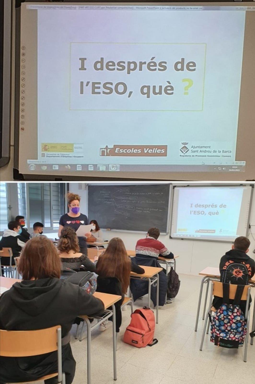 L'Ajuntament informa als alumnes de les sortides després dels estudis